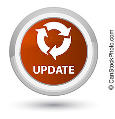 Update (refresh icon) prime brown round button