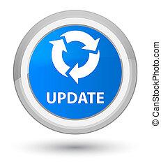 Update (refresh icon) prime cyan blue round button