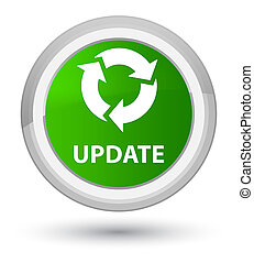 Update (refresh icon) prime green round button