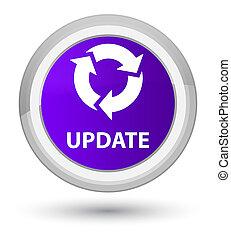 Update (refresh icon) prime purple round button