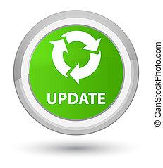 Update (refresh icon) prime soft green round button
