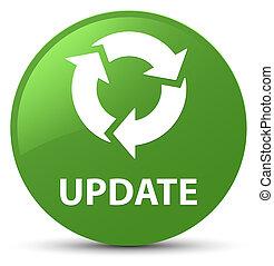 Update (refresh icon) soft green round button