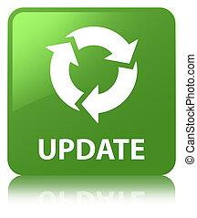 Update (refresh icon) soft green square button