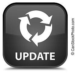 Update (refresh icon) special black square button