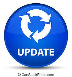 Update (refresh icon) special blue round button