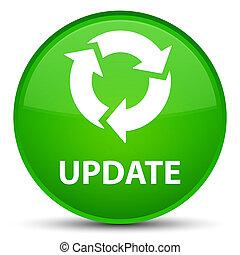 Update (refresh icon) special green round button