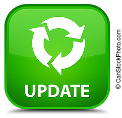 Update (refresh icon) special green square button