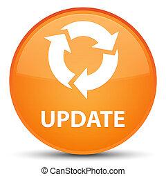 Update (refresh icon) special orange round button