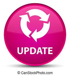 Update (refresh icon) special pink round button