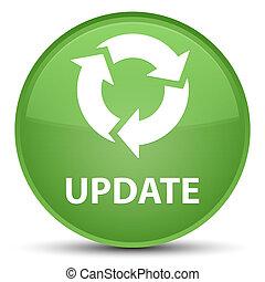 Update (refresh icon) special soft green round button