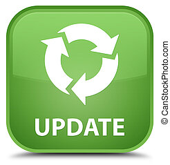 Update (refresh icon) special soft green square button