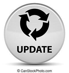 Update (refresh icon) special white round button