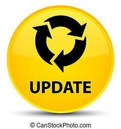Update (refresh icon) special yellow round button
