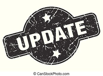 update round grunge isolated stamp