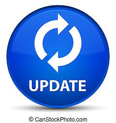 Update special blue round button