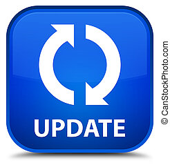 Update special blue square button