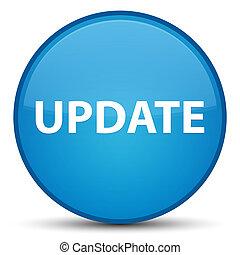Update special cyan blue round button