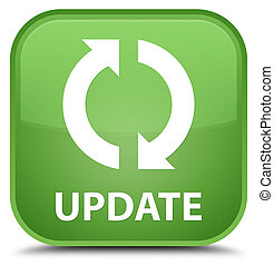 Update special soft green square button