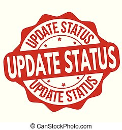 Update status grunge rubber stamp