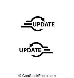 Update Web button. Illustration update quickly