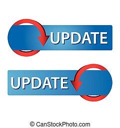 Update Web button set. Icon Set