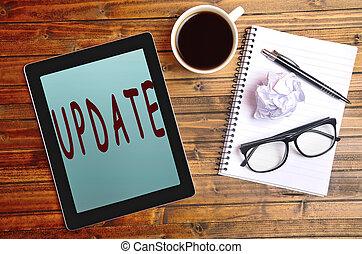 Update word on tablet