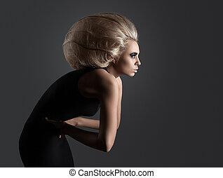 Woman with Futuristic Hairdo