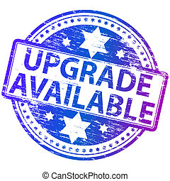 """Rubber stamp illustration showing """"UPGRADE AVAILABLE"""" text"""