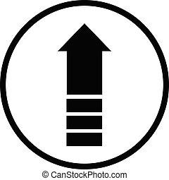 upgrade icon on white background. flat style. upgrade icon for your web site design, logo, app, UI. black symbol. arrow up sign.