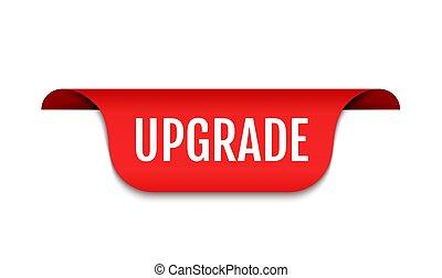Upgrade logo icon, software improve banner upgrade improve update badge
