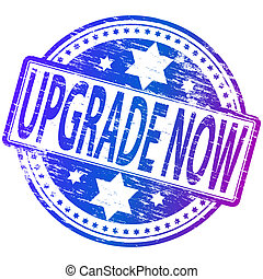 Upgrade Now Stamp - Rubber stamp illustration showing...