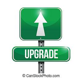 upgrade road sign illustration design over a white...