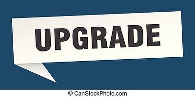 upgrade speech bubble. upgrade sign. upgrade banner