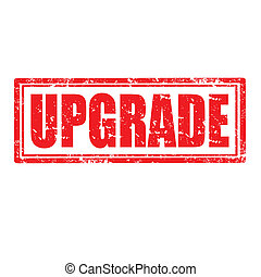 Grunge rubber stamp with word Upgrade, vector illustration