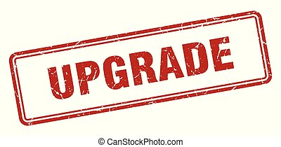 upgrade stamp. upgrade square grunge sign. upgrade
