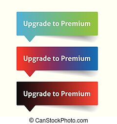 Upgrade to premium. Call to action button