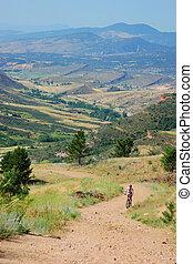 Cross country mountain biker