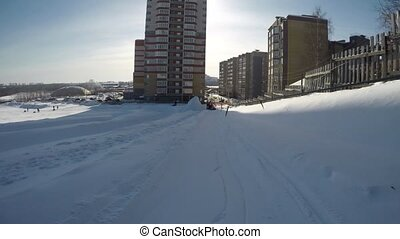 Uphill riding gopro video - Uphill riding on a sunny winter...