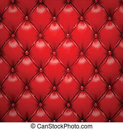 upholstery, couro, padrão, experiência., vetorial, vermelho