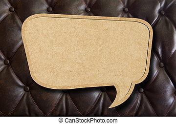 upholstery, leder, papier, toespraak, achtergrond, ...