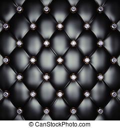 Upholstery pattern - Black upholstery pattern with diamonds...