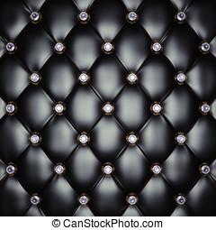 Upholstery pattern - Black upholstery pattern with diamonds...