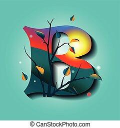 upiększenia, jesień, litera b