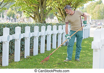 upkeep of cemetery