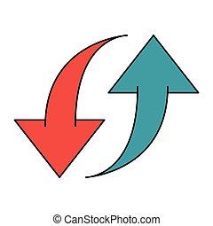 Upload and download symbol