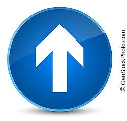 Upload arrow icon elegant blue round button