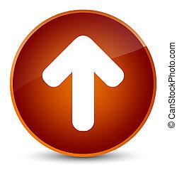 Upload arrow icon elegant brown round button