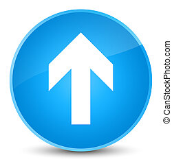 Upload arrow icon elegant cyan blue round button