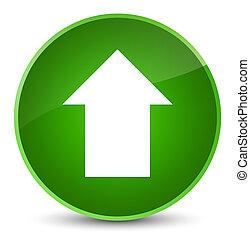 Upload arrow icon elegant green round button