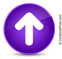Upload arrow icon elegant purple round button